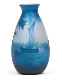 vase mit segelboot by val saint-lambert