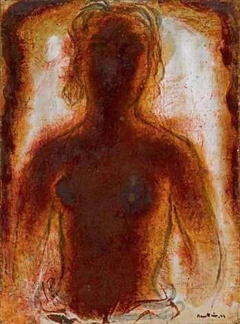 buste de femme nue by jean fautrier