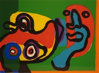 meeting the sun by karel appel