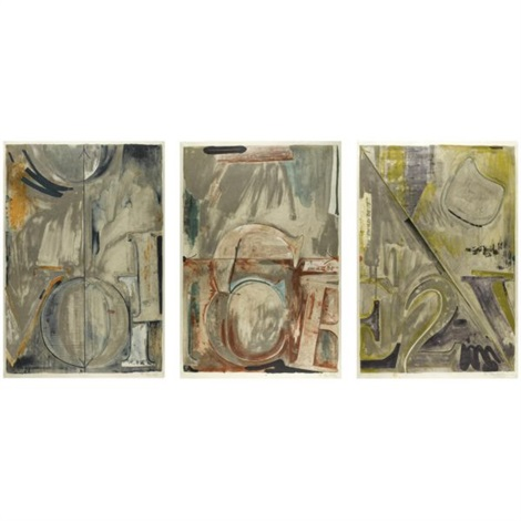 voice 2 set of 3 by jasper johns