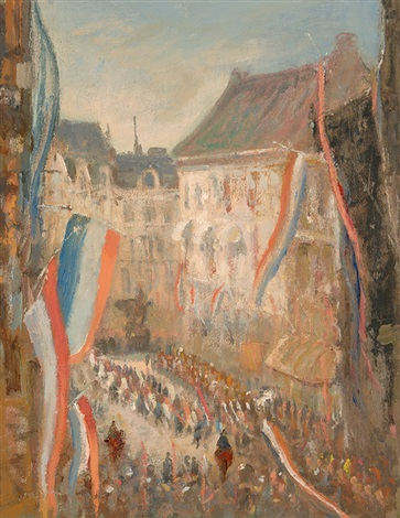 queens day on the noordeinde in the hague by jacobus cornelis wyand cossaar