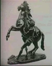 mand med stejlende hest by coustou (-unattributable)