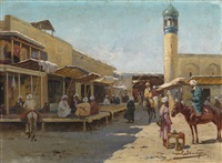 oriental scene by richard karlovich zommer