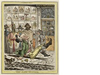 very slippy weather by james gillray