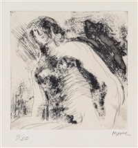 half figure by henry moore