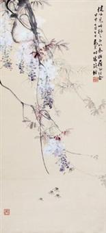 紫藤蜜蜂 by ma wanli