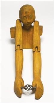 torso with iron element by juan muñoz