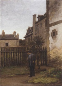 in the backyard by william morris hunt