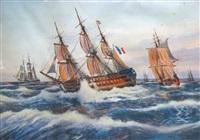 vaisseaux en escadre by georges godefroy