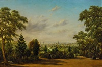melbourne from the botanical gardens by henry c. gritten