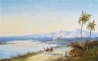 caravane près d'un lac by paul pascal