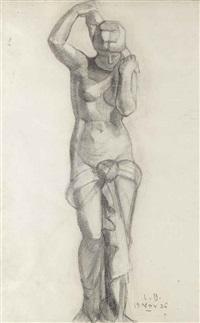 statue de femme à la draperie by louise bourgeois