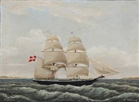 the schooner alert assens under the command of capt. svinding by jens thielsen locher