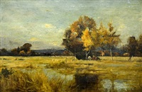 october on a surrey common by john henry leonard