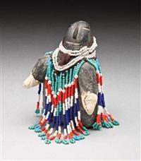 woman with mittens by eva talooki aliktiluk