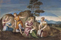 the finding of moses by bonifazio de pitati