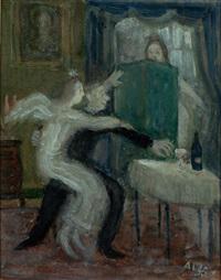 schutzengel bewahrt einen alkoholiker vor dem nächsten glas by axel leskoschek