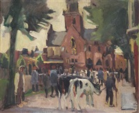 the cattle market, alkmaar by harrie kuyten