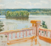 view from the terrace by akseli valdemar gallen-kallela