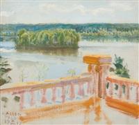 view from the terrace by akseli valdemar gallen-kallela