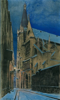 saint-severin church in paris by odo (otton) dobrowolski