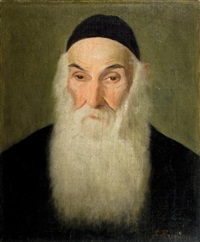 portrait of a rabbi by lazar krestin