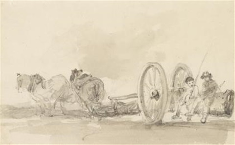 carting timber by john constable