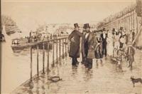 wedding on the seine by norbert goeneutte
