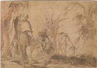 riposo durante la fuga in egitto by aureliano milani