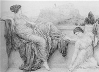 aspasia on the pnyx by henry george holiday