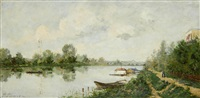 river landscape by paul emmanuel péraire