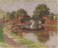 bridge, regent's canal by kalman kemeny