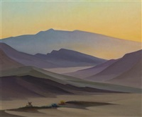 desert morning on easter by raymond james eastwood