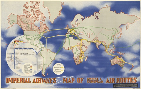 imperial airwaysmap of empire european air routes by lászló moholy nagy