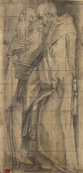 saints benedict and romuald by giorgio vasari
