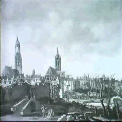 the aftermath of the explosion of the powder magazine at delft by daniel vosmaer