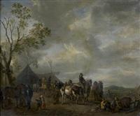 la halte des cavaliers by carel van falens