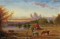 a gentleman's farm on the river by henry suydam