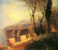 an der italienische kuste by hermann (august) kruger