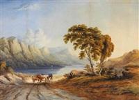 view of derwentwater, cumberland by john e. bosanquet