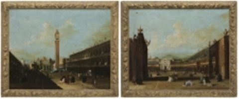 views of the piazza san marco venice pair by francesco guardi