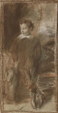bildnisskizze des theodor freiherr von cramer-klett junior (1874-1938) by franz seraph von lenbach