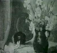 two still life: flowers, fruit by elizabeth g. jewell