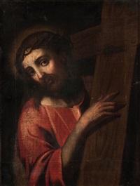 gesù cristo che porta la croce by luca cambiaso