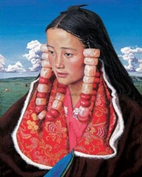 藏女 (tibetan girl) by liu kongxi