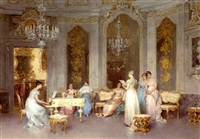 parlor scene by francesco beda