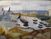 bateaux au mouillage by andrée marguerite fontainas