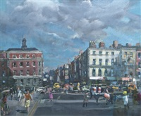 capel street from grattan bridge by james le jeune