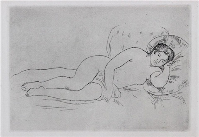 femme nue couche woman reclining by pierre auguste renoir