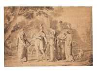 odysseus and penelope bid farewell to icarius (19 works) by anicet charles gabriel lemonnier